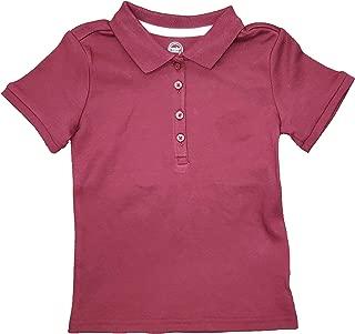 Girls Burgundy School Uniform Polo