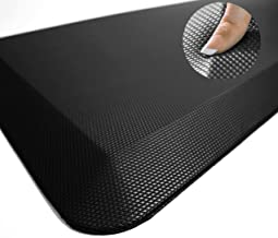 Sky Solutions Anti Fatigue Mat - Cushioned Comfort Floor Mats For Kitchen, Office & Garage - Padded Pad For Office - Non Slip Foam Cushion For Standing Desk (20x32x3/4-Inch, Black)