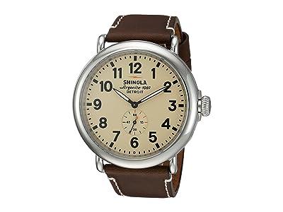Shinola Detroit The Runwell 47mm 10000039 (Cream/Dark Coffee) Watches