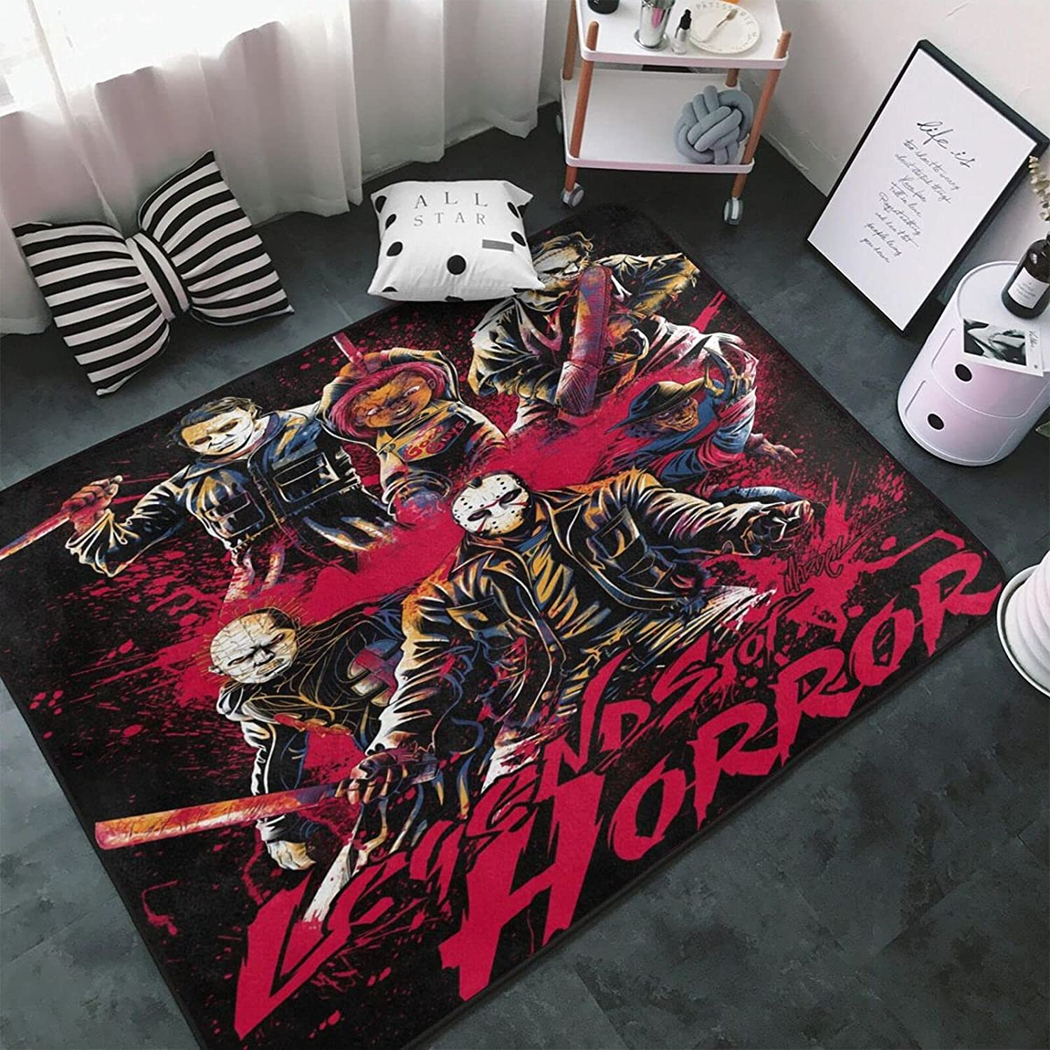 Horror OFFicial shop and Thriller Movie Series Area Quality inspection Soft Non Rug Fluffy Carpet
