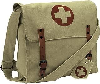 Vintage Medic Canvas Bag With Cross, Khaki