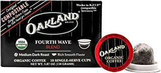 Oakland Coffee Works Fourth Wave Blend Organic Coffee, Single Serve Coffee K-Cup Pods (10 Count) Keurig Compatible
