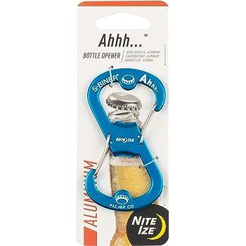 Nite Ize Ahhh Aluminum Dual Bottle Opener S-Biner Dual Carabiner with Double-Sided Bottle Openers Orange