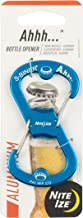 Nite Ize Ahhh Aluminum Dual Bottle Opener, S-Biner Dual Carabiner with Double-Sided Bottle Openers, Blue