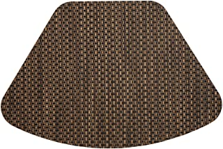 Sweet Pea Linens Set of 2 Driftwood (Black & Tan) Wipeable Wedge-Shaped Placemats for Round Tables