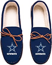 FOCO Football Mens Team Color Big Logo Moccasin Slippers Shoe - Pick Team