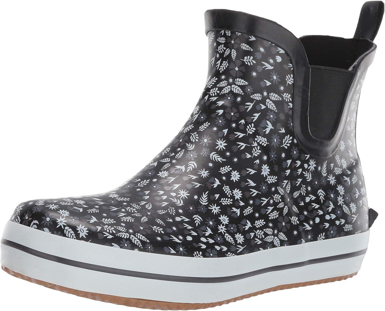 Kamik Women's Sharonlo Rain Boot, Black, 9 M US