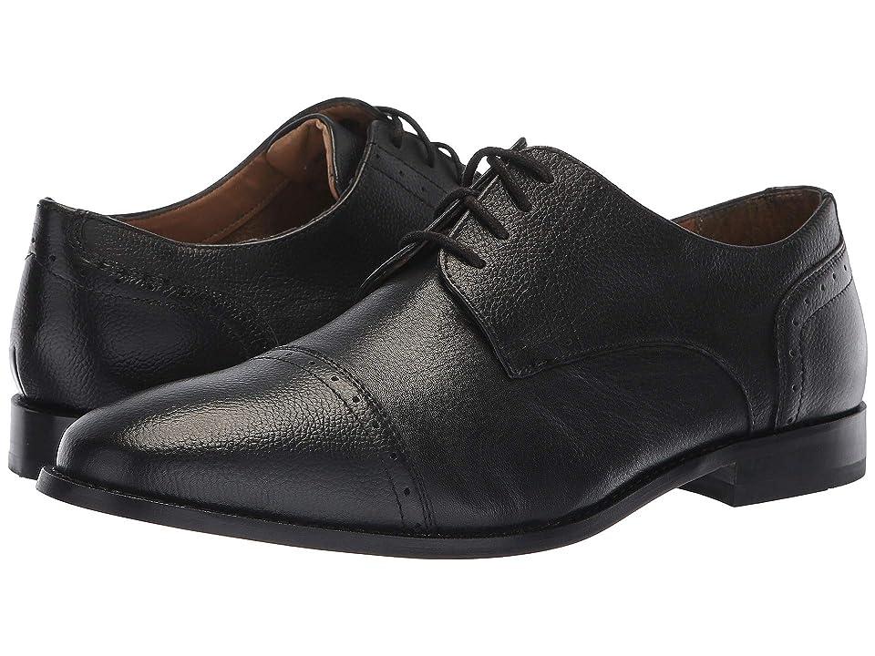 Florsheim Saluzzo Cap Toe Oxford (Black Tumble) Men