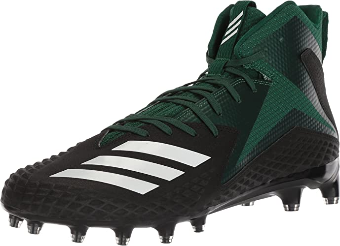 Adidas Men's Freak X Carbon Mid Football chaussures, core noir blanc Dark vert, 11.5 M US