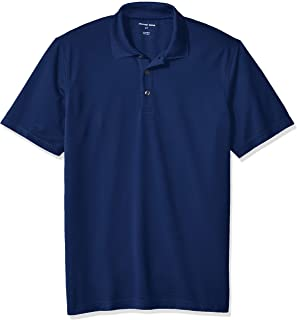 Geoffrey Beene Men's Big and Tall Short Sleeve Ottoman Solid Polo Shirt