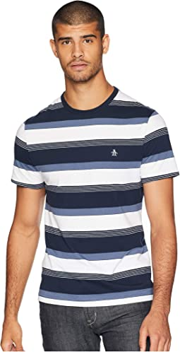 Short Sleeve Road Map Stripe T-Shirt