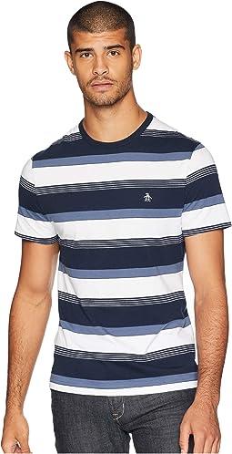 Short Sleeve Road Map Stripe T-Shirt