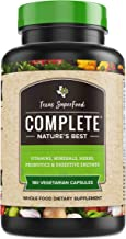 Texas SuperFood - Complete Organic Superfood Capsules, Superfood Reds and Greens, Vitamins Minerals Herbs and Probiotics, Non-GMO, Gluten Free, Vegan Superfood Pills, 180 Vegetarian Capsules