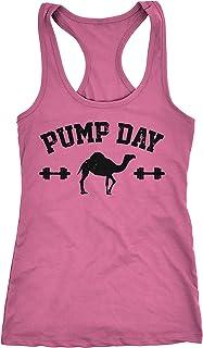 f5e32458b720 Crazy Dog T-Shirts Womens Pump Day Funny Hump Day Camel Fitness Workout Sleeveless  Tank