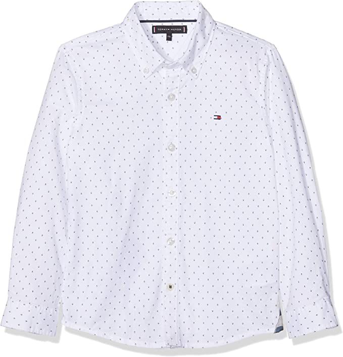 Tommy Hilfiger Mini Gingham Shirt L//S Blusa para Ni/ños
