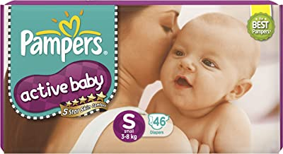 Pampers Active Baby Diapers, Small, 46 Count
