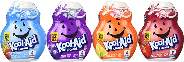 Kool-aid Liquid Drink Mix 4 Pack (Cherry, Grape, Orange, and Tropical Punch)
