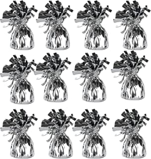 Balloon Weight Silver Metallic for Helium Balloons - Pack of 12