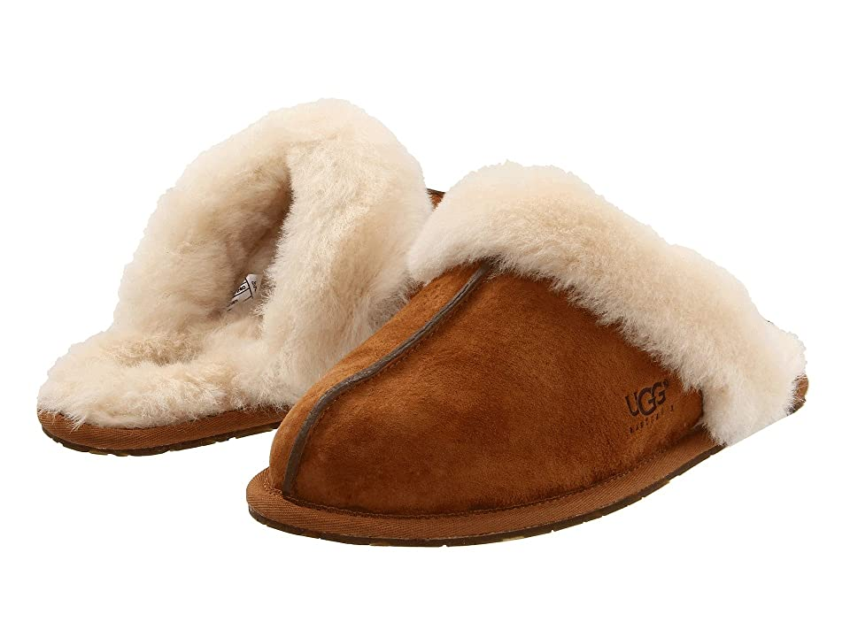 Image of UGG Scuffette II Water-Resistant Slipper (Chestnut (Suede)) Women's Slippers