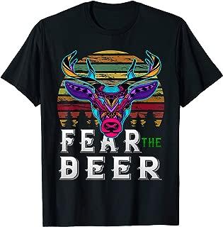 Fear The-Deer Gift For Milwaukee Basketball Bucks Fans retro T-Shirt