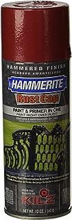Masterchem Industries 41180 Hammerite Rust Cap Hamme Enamel Finish, 12 Oz Aerosol Can, 18 Sq.-Ft/Gal, Red