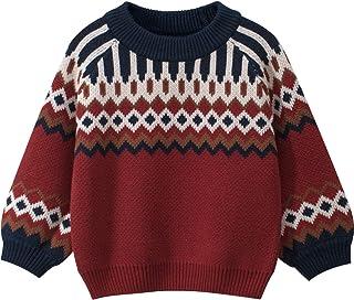 HENGX Suéter Niñas Bebé Niño Prendas Punto Niños Jerséis Suéteres/Jersey Cuello Redondo/Chaqueta Punto Jersey/Cuadros/3-8 ...