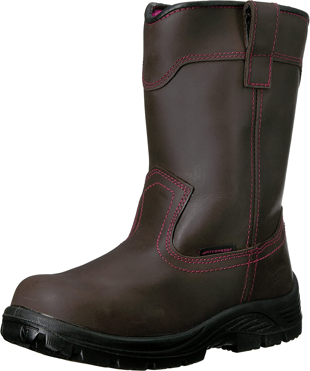 Avenger Safety Footwear Womens Avenger 7146 Womens Comp Toe Wp Pull on Eh Work Boot Industrial & Construction shoes