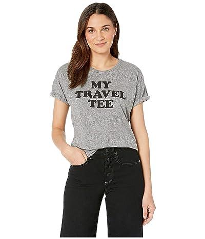 The Original Retro Brand My Travel T-Shirt Mocktwist Rolled Short Sleeve Crew Neck T-Shirt (Mocktwist Heather Grey) Women
