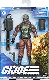 Hasbro G.I. Joe Classified Series Heavy Artilery Roadblock Action Figure 28 Collectible Premium Toy 6-Inch-Scale with Cust...