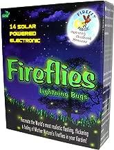 Firefly Magic Solar and Battery-Operated Firefly Lights (Lightning Bug Lights), Model FMS-14S2, Firefly Green (1 Set)