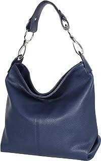AmbraModa GL033 - Bolso de mano bolso de hombro de piel para mujer