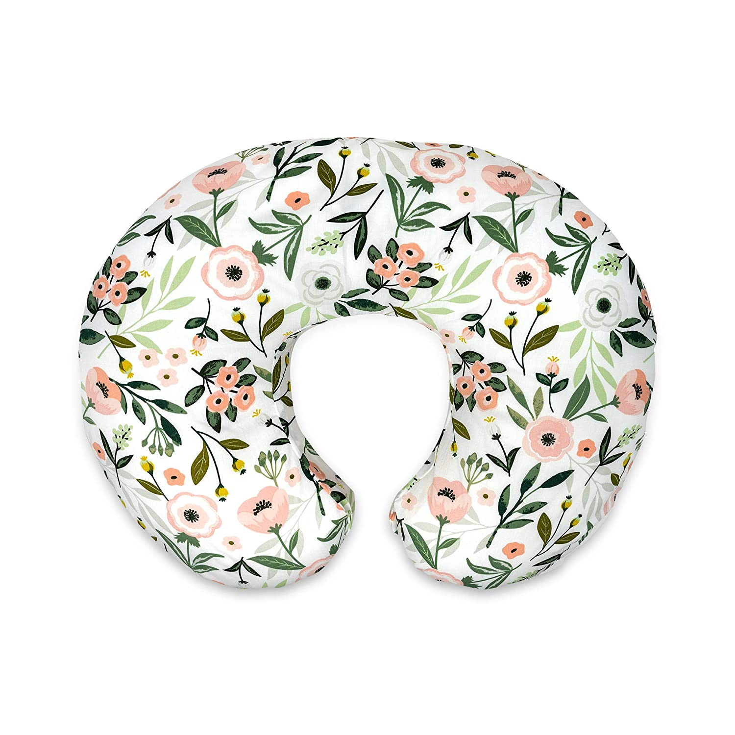 Boppy Nursing Pillow and Positioner—Original   Pink Garden Flowers   Breastfeeding, Bottle Feeding, Baby Support   with Removable Cotton Blend Cover   Awake-Time Support