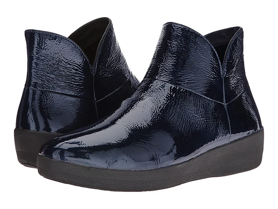 FitFlop Supermod Leather Ankle Boot (Inky Blue) Women