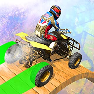 Light ATV Stunt Racing Adventure Game: Offroad Quad Bike Mega Ramp Traffic Stunts Missions 2019