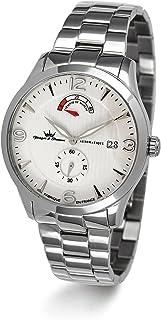 YONGER&BRESSON - Yonger & Bresson - Reloj automático para Hombre, Correa de Acero Inoxidable Color Plateado