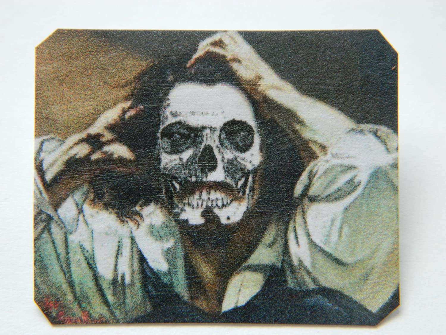 Lapel Pin Gustave Courbet Homage Self-por Max 66% Spring new work one after another OFF Skull Gothic Halloween