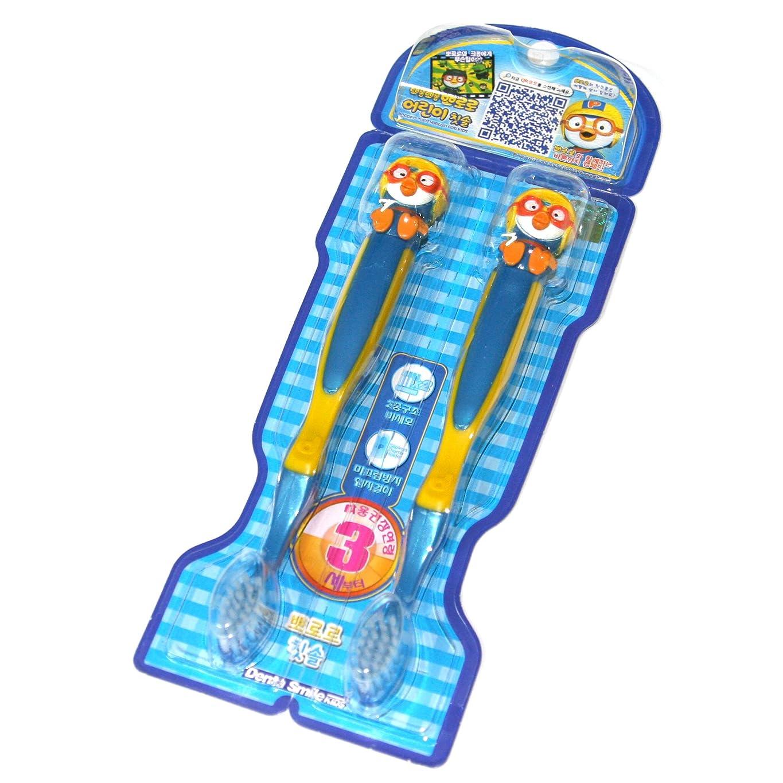 不格好結婚式壊滅的なPORORO Toothbrush For Kids 2ea set (PORORO) ポロロ 子供用 歯ブラシ2ea set (ポロロ ) [並行輸入品]