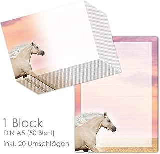 Motivpapier Briefpapier PFERDE IM NEBEL 50 Blatt DIN A5