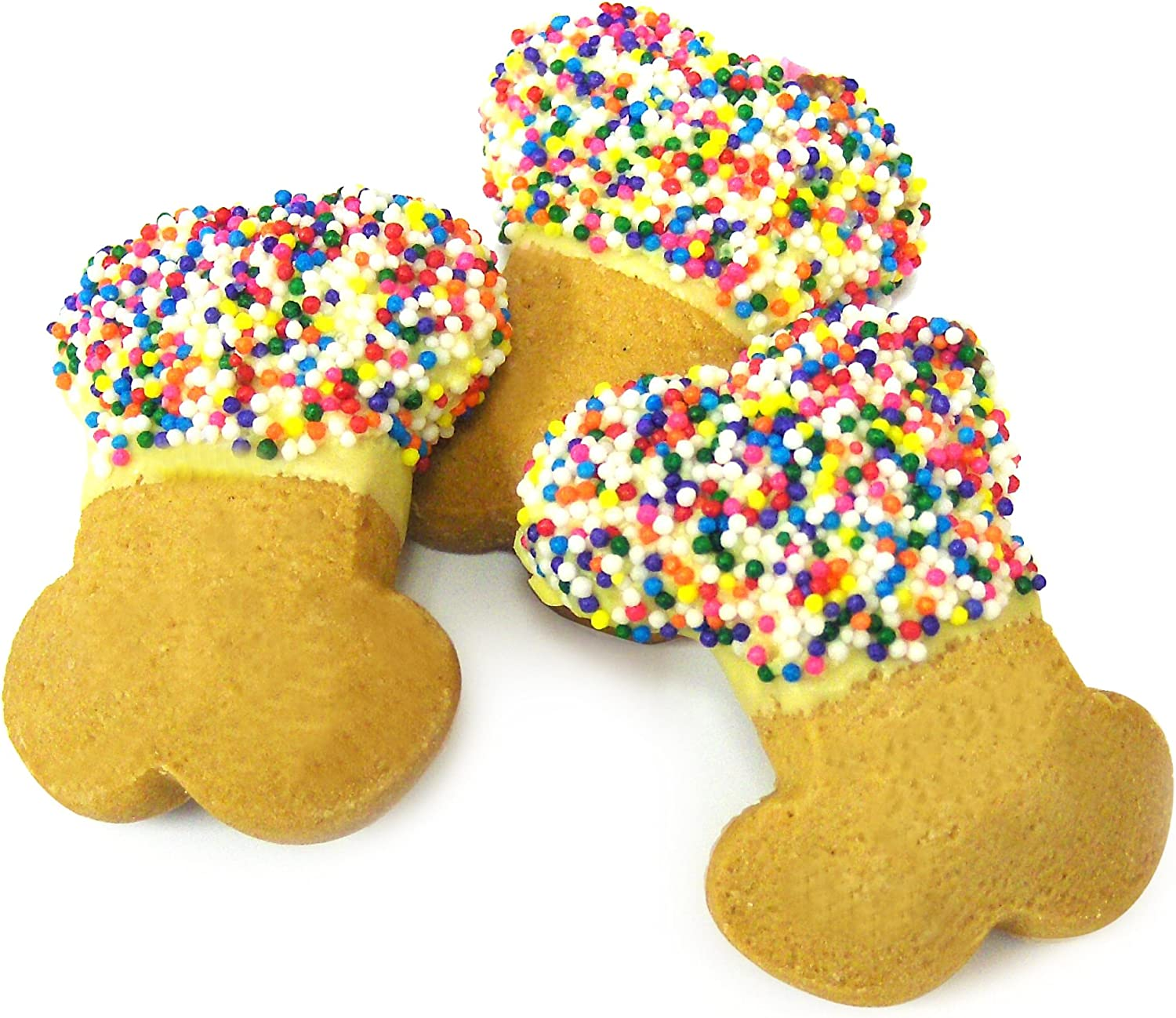 Claudias Canine Cuisine 24Piece Boutique Bakery Canine Party Bones Dog Cookies with Sprinkles