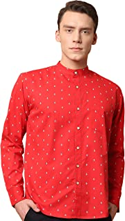 GHPC Printed 100% Cotton Full Sleeves Slim Fit Casual Shirt for Men