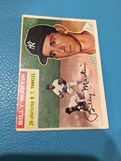 Topps Original 1956 181 Billy Martin New York Yankees No Creases Authentic