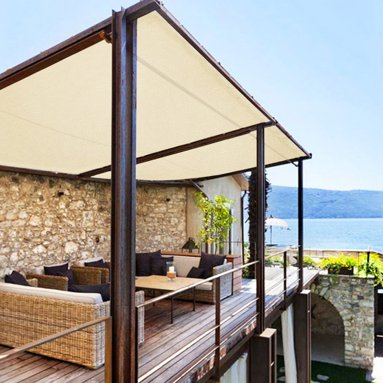E&K Sunrise - Rollo de tela resistente a los rayos UV, 95% de malla para exterior, jardín, invernadero, barniz, planta (tamaños personalizados disponibles): Amazon.es: Jardín