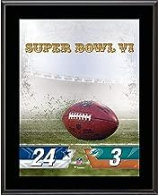 Dallas Cowboys vs. Miami Dolphins Super Bowl VI 10.5