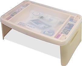Joyo Multi-Utility Compact Foldable Table,(Mushroom & Silver Color) 1 pc