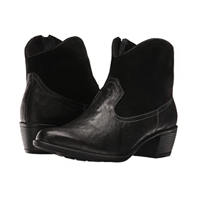 Munro Laramie (Black Leather/Suede) Cowboy Boots