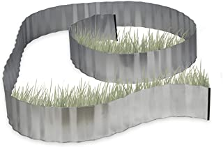 Relaxdays, Gris Valla Decorativa, Borde delimitador de Metal, Flexible, 5 m x 16 cm, 0.1x500x16 cm