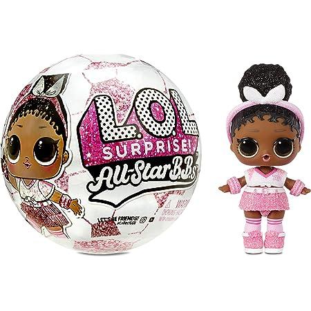LOL Surprise All-Star BBs, Squadra di calcio- Bambola luccicante a tema sportivo con 8 sorprese e accessori alla moda, All-Star BBs Serie 3, Bambola da collezione adatte dai 3 anni in su.