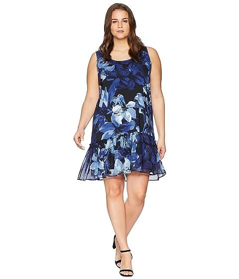 KAREN KANE PLUS Plus Size Ruffle Hem Dress, Print