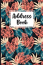 Address Book: Address Alphabetical directory logbook with nice-looking Floral cover Design for maintenance of Addresses, E...