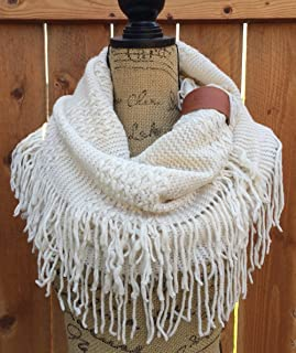 Off White Infinity Knit Scarf, Uptown Girl Co